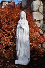 Mary Statue Rosa Mystica 24 inch Garden Statue Indestructible Polyurethane Plug