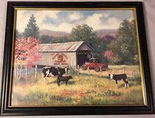 Bridge Stream Simon's Apples Ford Cow Calves 1995 Marianne Caroselli Covered