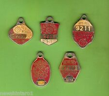 #D82. FIVE REVESBY WORKERS CLUB 1977/78 to 1986/87  BADGES #911