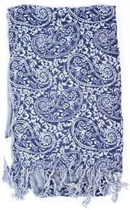 H&M Womens Flower Haze Scarf (Print)Blue Combo One Size New