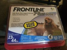 Frontline Plus for Dogs Medium Dog (23-44 pounds) Flea and Tick Treatment, 6 Dos