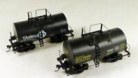 (2) Walthers #932-5104 30' Tank Cars Staley & UTLX #10872 & #78370 HO Scale 1/87