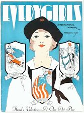 Vintage Feb. 1932 Everygirls Camp Fire Girls Magazine H. Vallely Art Deco Cover
