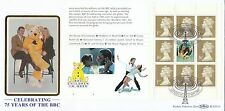 (98220) GB Benham FDC BLCS133s BBC FULL Booklet Pane London W1 23 September 1997