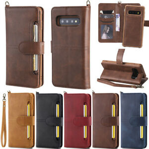 Detachable Leather Card Wallet Flip Cover Case For Samsung S20/S10/S9/S8+ Note10