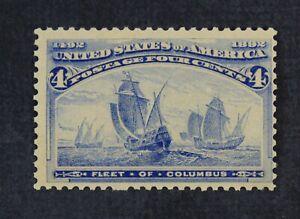 CKStamps: US Stamps Collection Scott#233 4c Columbian Mint H OG