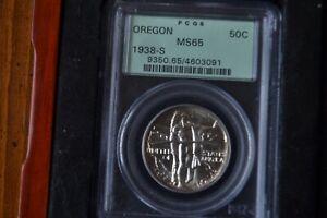 1938-S Oregon Trail 50C PCGS MS 65 Early Silver Commemorative Half Dollar