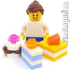 M681-G Lego Hoilday Girl Minifigure & Birthday Cake Christmas Gift Santa Toy NEW