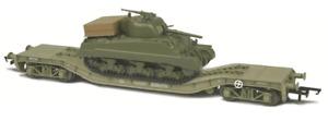 Oxford Rail 1:76 KWA Warwell Wagon With Sherman Tank OR76WW006