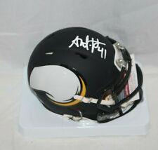 Anthony Harris Signed Autographed Minnesota Vikings AMP Mini Helmet 2 JSA