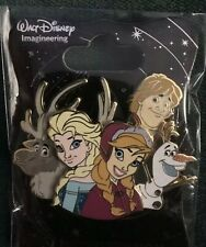 Walt Disney Imagineering WDI Cluster Pin Frozen Characters Profile LE Elsa Anna