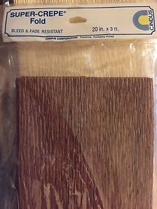 Cindus Super-Crepe Paper Folds 20 in. x 3 ft. BROWN any occasion