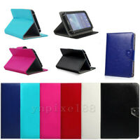"For Lenovo Samsung 9.7"" 10"" 10.1"" inch Tablet Universal Folio Leather Cover Case"