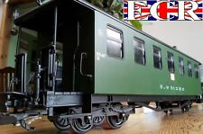 BRAND NEW G SCALE 45mm GAUGE RAILWAY PASSENGER GREEN CARRIAGE COACH GARDEN TRAIN