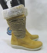 new Timberland Suede Pull Up Wheat Mid-Calf Boots  Women size 5