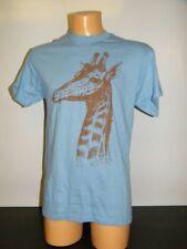 Delta Pro Weight Damen T-Shirt mit Motivdruck Giraffe Größe wählbar Blau Neu
