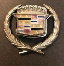 Cadillac DeVille Chrome Trunk Lock Swing Emblem 1989 Crest Wreath OEM