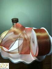 "Df Metallic Sheer Organza Ribbon- Wired Edge, 1-1/2"" by 25Y Spool+ 2 free Gifts"