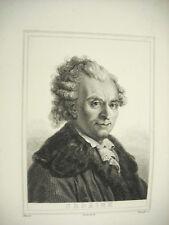 Michel-Jean Sedaine Couché Méhu c1880 gravure print dramaturge français.