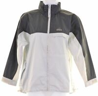 ADIDAS Girls Rain Jacket 9-10 Years Grey  IV01