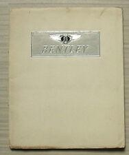 BENTLEY MK VI Car Sales Brochure Oct 1952 James Young HOOPER Park Ward MULLINER