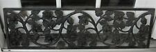 Antique Cast Iron ROSE PATTERN Ornate Window Guard Grill Grate / Double Sided