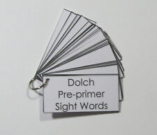 Teacher Made Resource Dolch Pre-primer Sight Word Flashcard with Sentences Ring