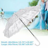 White Lace Sun Umbrella Lady Parosol Flower Bridal Wedding Party Decor