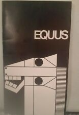 Equus Broadway Program, Autographed by Leonard Nimoy and Ralph Seymour