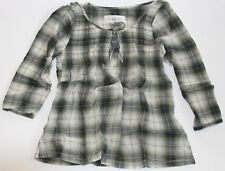 ABERCROMBIE & Fitch by Hollister Womens Classic Plaid Shirt Top Blouse Olive M