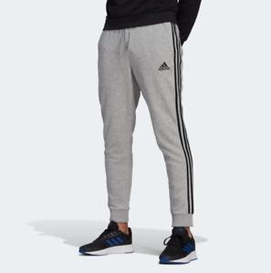 adidas Men's Essentials Fleece Tapered Cuff 3-Stripes Pants
