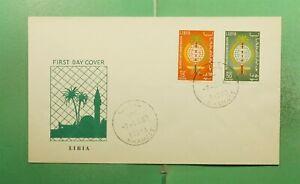 DR WHO 1962 LIBYA FDC ANTI MALARIA COMBO  g13981