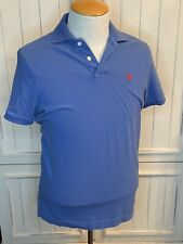 Abercrombie & Fitch Mens Muscle Logo Polo Shirt Top Blue Sz XL