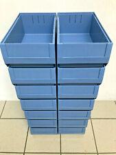 14 Stück Bito Regalkasten RK Set RK4214 400 x B234 H140 mm taubenblau NEU