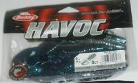 Berkley HAVOC 1pk black blue silver fleck Craw Fatty Fishing Bait free shipping