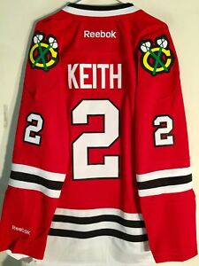 Reebok Premier NHL Jersey Chicago Blackhawks Duncan Keith Red sz S