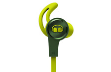 Monster iSport Achieve in Ear Sports Headphones With Microphone Green