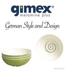 Gimex Melamin Camping Geschirr 4er Müsli-Schalen Set Classic Line Twist green
