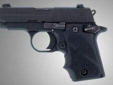 Hogue Sig Sauer P238 .380 Black Soft Rubber Grip with Finger Grooves # 38000 New
