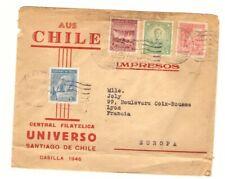 SANTIAGO DE CHILE (CHILI) Enveloppe timbrée voyagée en 1946