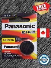 Button cell Lithium Battery. Exp. 2023 1 X Panasonic Cr2016, Br2016, Dl2016, 3V,