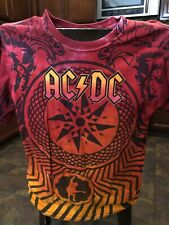 AC/DC 2010 Black Ice World Tour Tie Dye Red Orange Black T-Shirt L