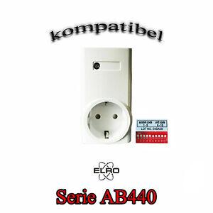 Ersatz Funksteckdose für ELRO System AB440 Funk Zwischenstecker mit 1000 Watt