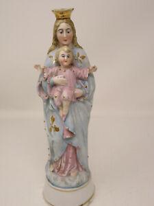 Madonna mit Jesuskind aus Porzellan ~ Volkskunst ~