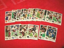 1999 FLEER FOCUS FOOTBALL 20 DIFFERENT ROOKIE CARDS /3850 /2500 /2250 (18-59)