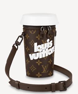 Louis Vuitton Coffee Cup Pouch Pochette Monogram Capsule  LV Authentic Brand New