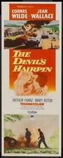 THE DEVIL'S HAIRPIN Movie POSTER 14x36 Insert Cornel Wilde Jean Wallace Arthur