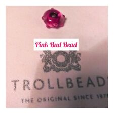 TROLLBEADS AUTHENTIC PINK BUD BEAD RETIRED BEAD-LIMITED QUANTITY!!!