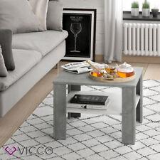 VICCO Couchtisch HOMER Beton Weiß 60x60 cm  Wohnzimmer Sofatisch Kaffeetisch