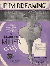 1929 Marilyn Miller Theater (Sally) Sheet Music (If I'm Dreaming)